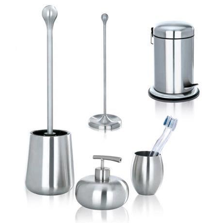Wenko Nova Bathroom Accessories Set - Stainless Steel