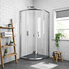 Newark 900 x 900mm Quadrant Shower Enclosure + Slate Effect Tray profile small image view 1