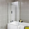 Premier 1400 Quattro Fixed Bath Screen - NSBS2 profile small image view 1