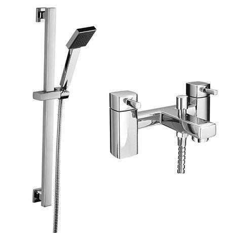 Neo Bath Shower Mixer with Slider Rail Kit - Chrome