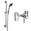 Neo Bath Shower Mixer with Slider Rail Kit - Chrome profile small image view 1