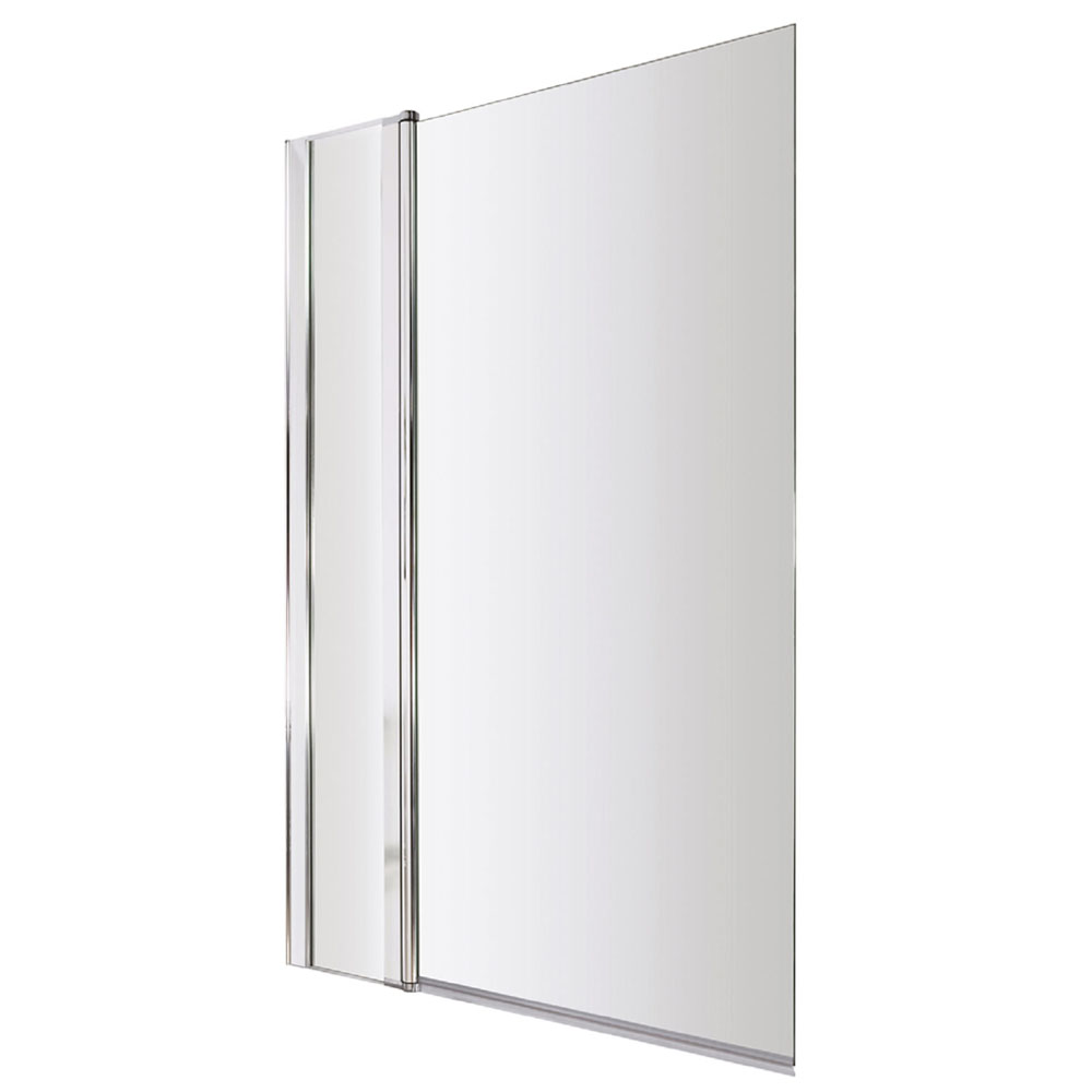 1400 Hinged Square Bath Screen with Fixed Panel - NSSQ1