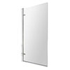 8mm Glass Square Hinged Bath Screen - NSSQ7 profile small image view 1