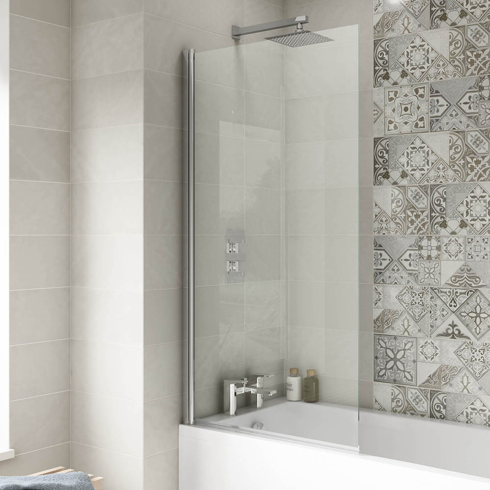 1400 Hinged Square Bath Screen | Victorian Plumbing