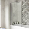 1400 Hinged Square Bath Screen Small Image