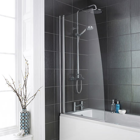 1400 Hinged Sail Bath Screen - NSSS1
