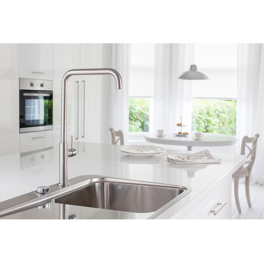 Crosswater - Cucina Ninety Tall Side Lever Kitchen Mixer - Stainless Steel - NT712DS Profile Large Image