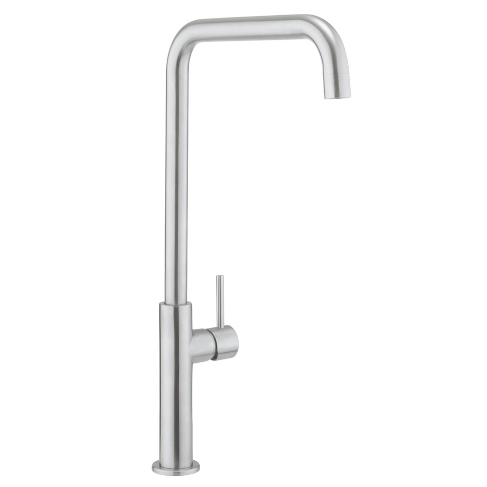 Crosswater - Cucina Ninety Tall Side Lever Kitchen Mixer - Stainless Steel - NT712DS Large Image