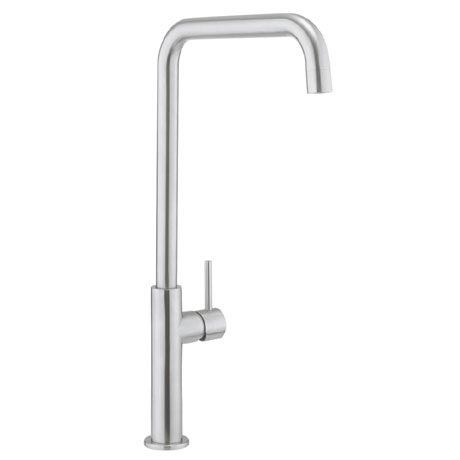 Crosswater - Cucina Ninety Tall Side Lever Kitchen Mixer - Stainless Steel - NT712DS