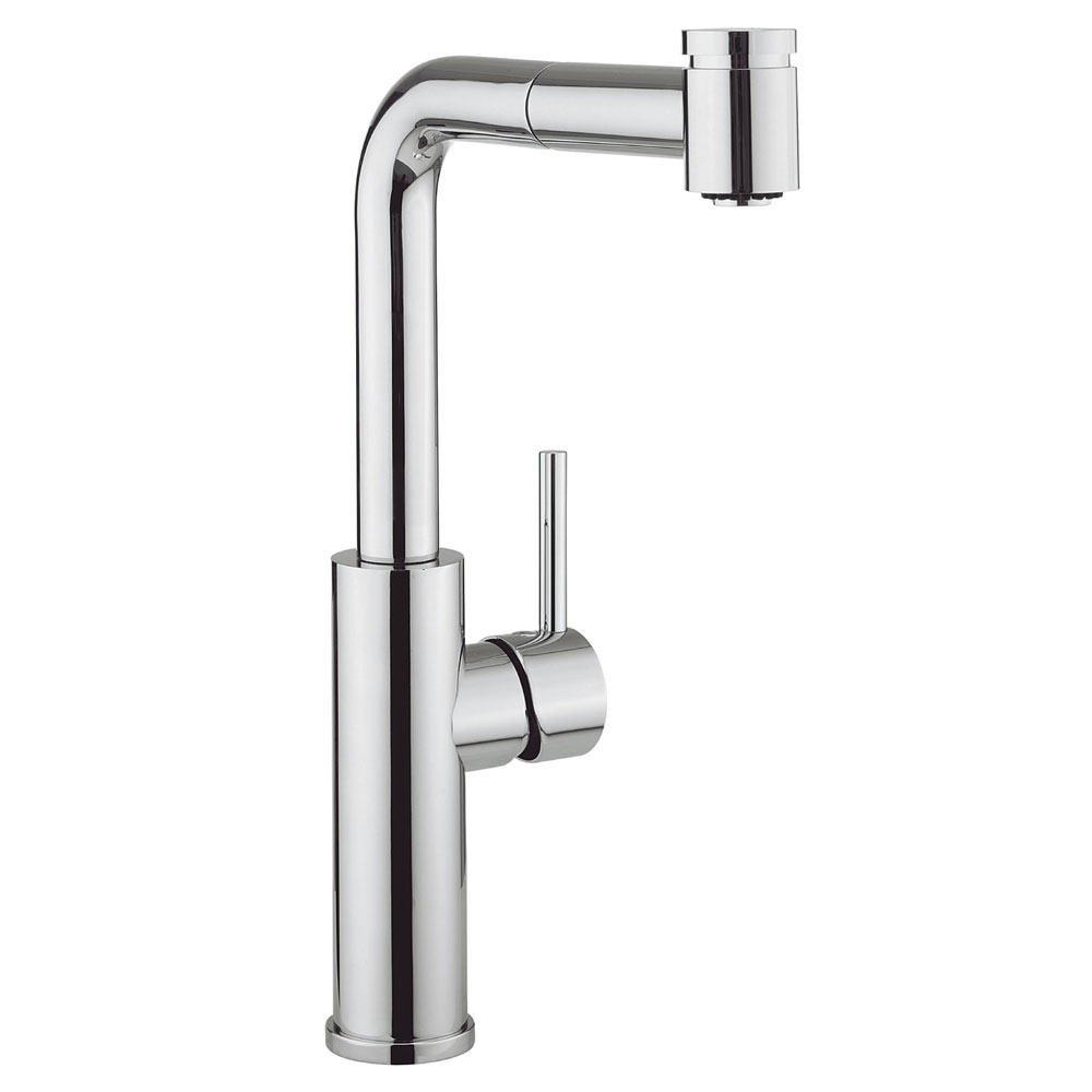 Crosswater - Cucina Ninety Side Lever Kitchen Mixer with Pull Out Spray - Chrome - NT719DC Large Image