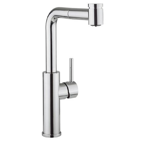 Crosswater - Cucina Ninety Side Lever Kitchen Mixer with Pull Out Spray - Chrome - NT719DC
