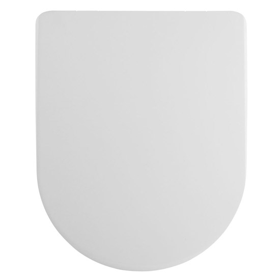 Premier Luxury D-Shape Soft Close Toilet Seat with Square Edge, Top Fix, Quick Release - NTS007 Large Image