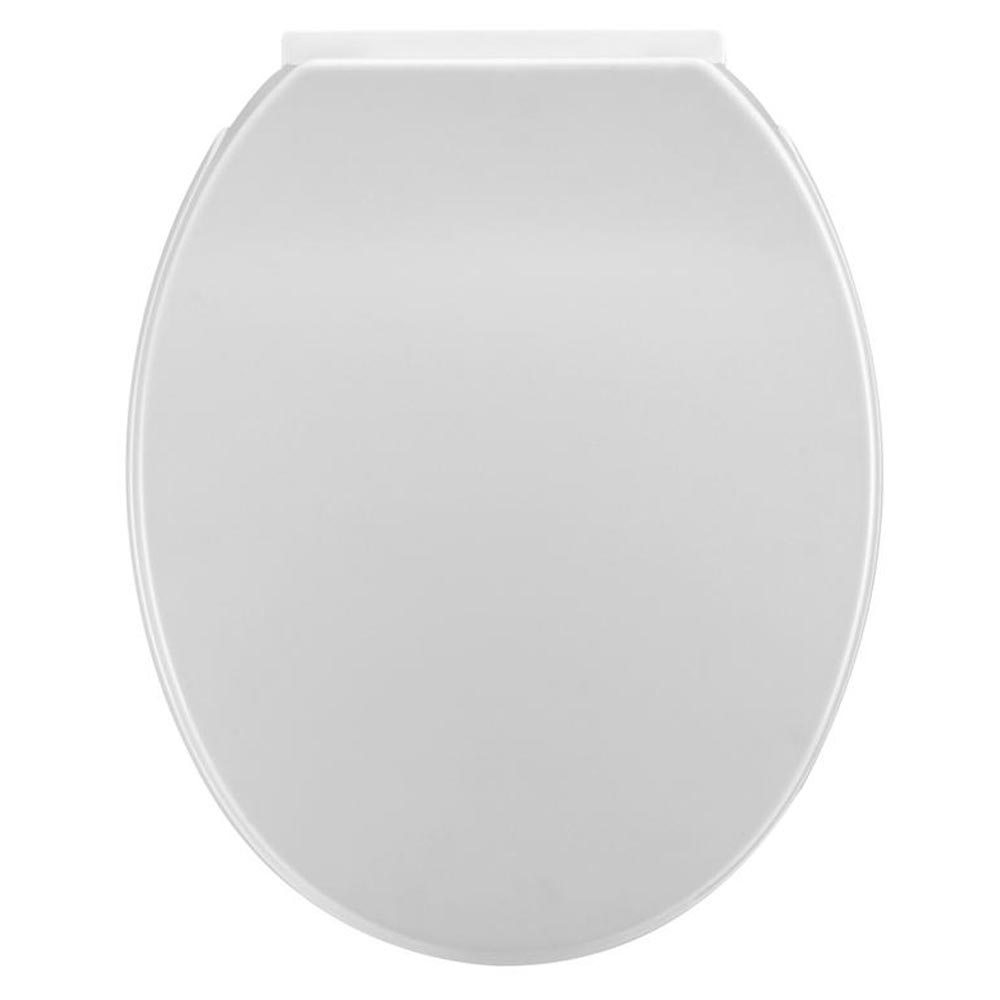 Standard Soft Close Toilet Seat - White - Close up image of a stunning white white soft close toilet seats