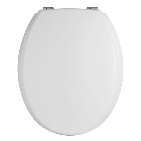Premier - Traditional Round Wooden Seat, Bottom-fix - Chrome Hinges - NTS302 Large Image