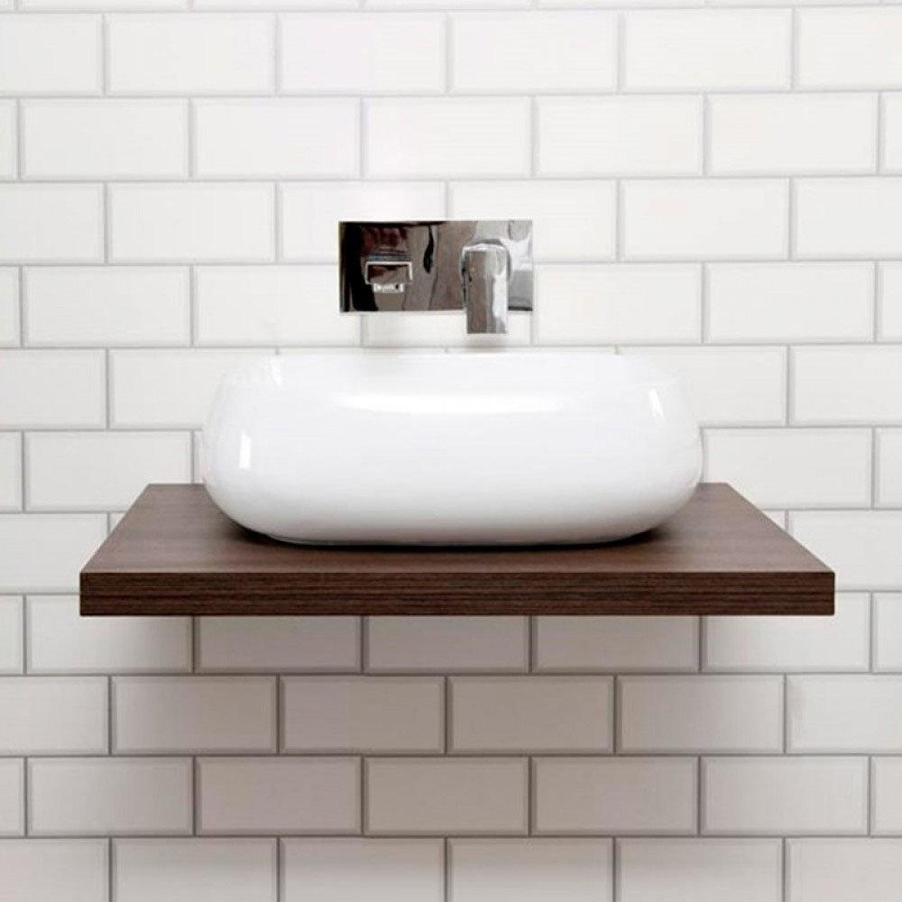 Nova Wall Hung Slimline Countertop Basin Shelf Victorian