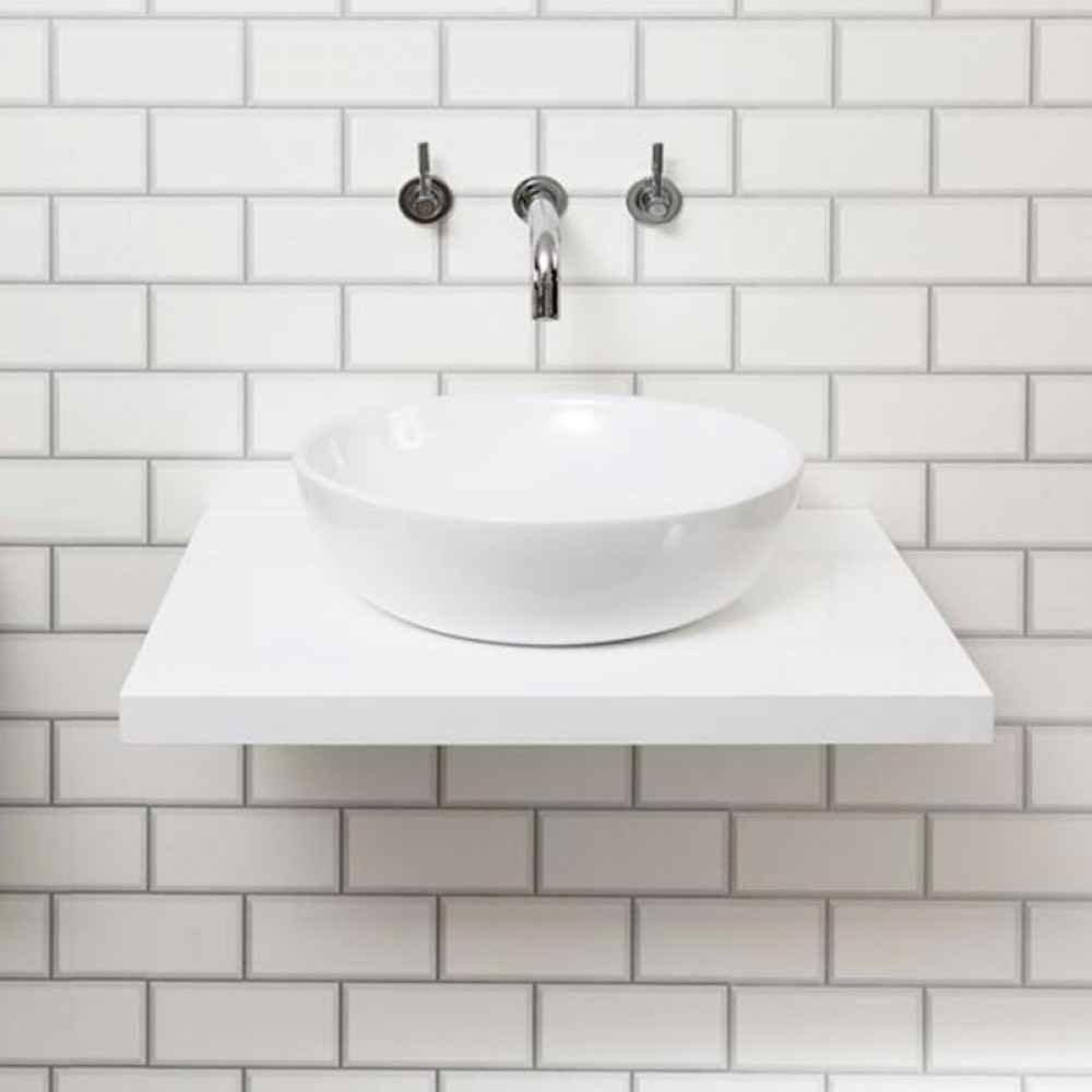 Nova Wall Hung Countertop Basin Shelf White Victorian Plumbing