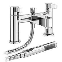 Nova Bath Shower Mixer Taps with Shower Kit - Chrome