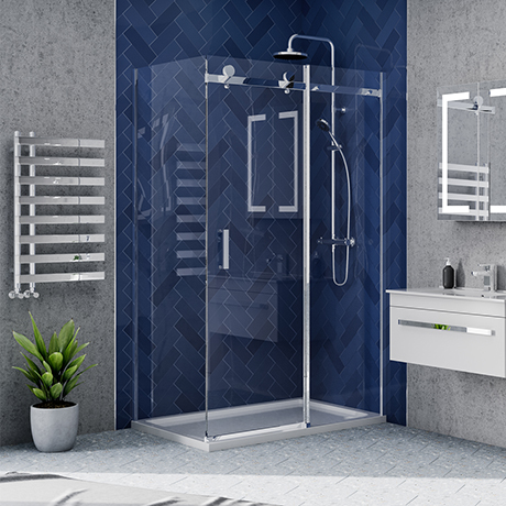 Nova Frameless 1000 x 800 Sliding Door Shower Enclosure