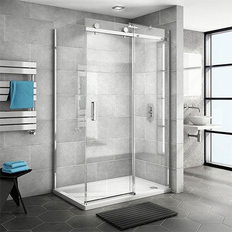 Nova Frameless 1200 x 700 Sliding Door Shower Enclosure