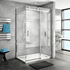 Nova Frameless 1200 x 700 Sliding Door Shower Enclosure profile small image view 1