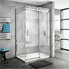 Nova Frameless 1400 x 1000 Sliding Door Shower Enclosure profile small image view 1