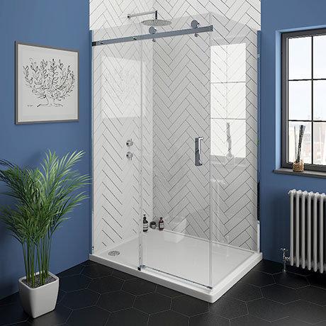 Nova Frameless 1400 x 700 Sliding Door Shower Enclosure