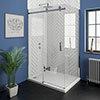 Nova Frameless 1400 x 700 Sliding Door Shower Enclosure profile small image view 1