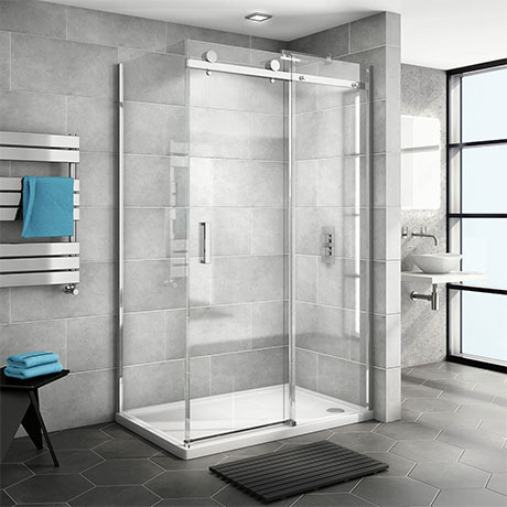 Nova Frameless 1400 x 700 Sliding Door Shower Enclosure