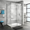 Nova Frameless 1400 x 700 Sliding Door Shower Enclosure profile small image view 1