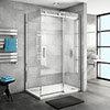 Nova Frameless 1600 x 700 Sliding Door Shower Enclosure profile small image view 1