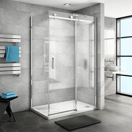 Nova Frameless 1600 x 800 Sliding Door Shower Enclosure