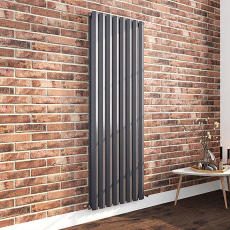Nova 1800 x 604 Vertical Anthracite Double Panel Radiator