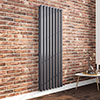 Nova 1800 x 604 Vertical Anthracite Double Panel Radiator profile small image view 1