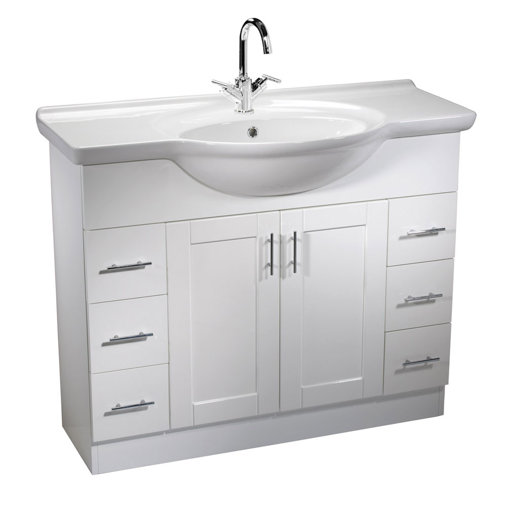Roper Rhodes New England 1000mm Freestanding Unit with Chrome Handles profile large image view 1