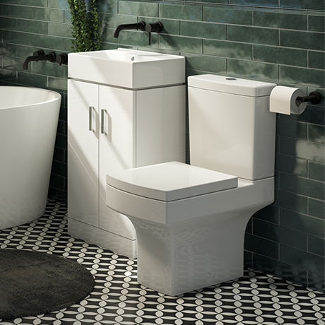 Nova Small Floor Standing 0TH Vanity + Square Toilet