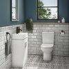 Nova Small Cloakroom Suite - Gloss White profile small image view 1