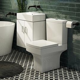 Nova Small Wall Hung 0TH Vanity + Square Toilet