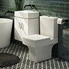 Nova Small Wall Hung 0TH Vanity + Square Toilet profile small image view 1
