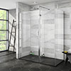 Nova 1600 x 800 Wet Room (Inc. Screen, Side Panel + Return Panel with Slate Effect Tray) profile small image view 1