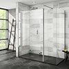 Nova 1700 x 800 Wet Room (Inc. Screen, Side Panel + Return Panel with Slate Tray) profile small image view 1