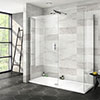 Nova 1700 x 700 Wet Room (Inc. Screen, Side Panel + Tray) profile small image view 1