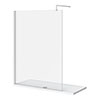Nova 1700 x 700 Wet Room (1400mm Screen + Tray) profile small image view 1