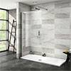 Nova 1700 x 700 Wet Room (1000mm Screen + Tray) profile small image view 1