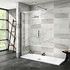Nova 1700 x 700 Wet Room (1000mm Screen + Tray) profile small image view 1