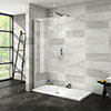 Nova 1400 x 700 Wet Room (800mm Screen + Tray) profile small image view 1