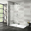 Nova 1500 x 700 Wet Room (900mm Screen + Tray) profile small image view 1