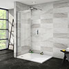 Nova 1200 x 900 Wet Room (700mm Screen + Tray) profile small image view 1