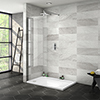 Nova 1200 x 800 Wet Room (700mm Screen + Tray) profile small image view 1