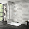 Nova 1200 x 800 Wet Room (700mm Screen + Tray) profile small image view 1
