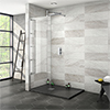 Nova 1200 x 800 Wet Room (700mm Screen + Slate Effect Tray) profile small image view 1